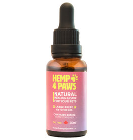 Hemp 4 Paws Hemp Seed Oil Large Breed 600MG/30ML