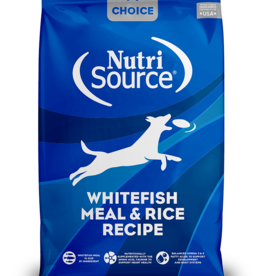 NUTRISOURCE NUTRISOURCE CHOICE Whitefish & Rice 30lb