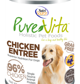 NUTRISOURCE PURE VITA GF DOG CHCK & CHK LV, 13 OZ. CAN