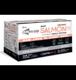 IRON WILL RAW Iron Will Raw Dog GF Basic Salmon Single Protein 6/1 lb