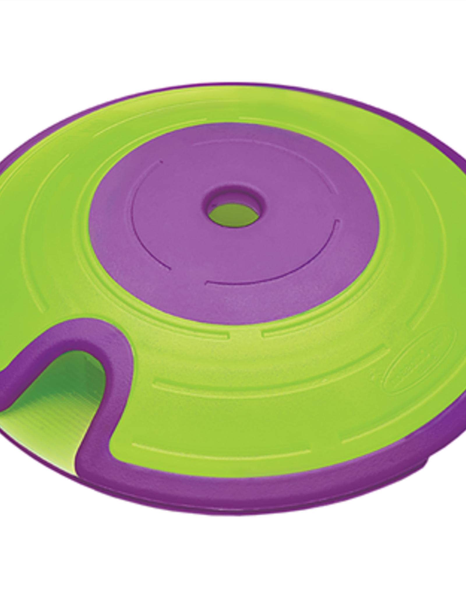 OUTWARD HOUND Outward Hound Dog Treat Maze Green & Purple   Puzzle