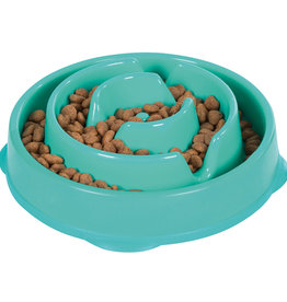 OUTWARD HOUND Outward Hound Fun Feeder Drop Teal Mini