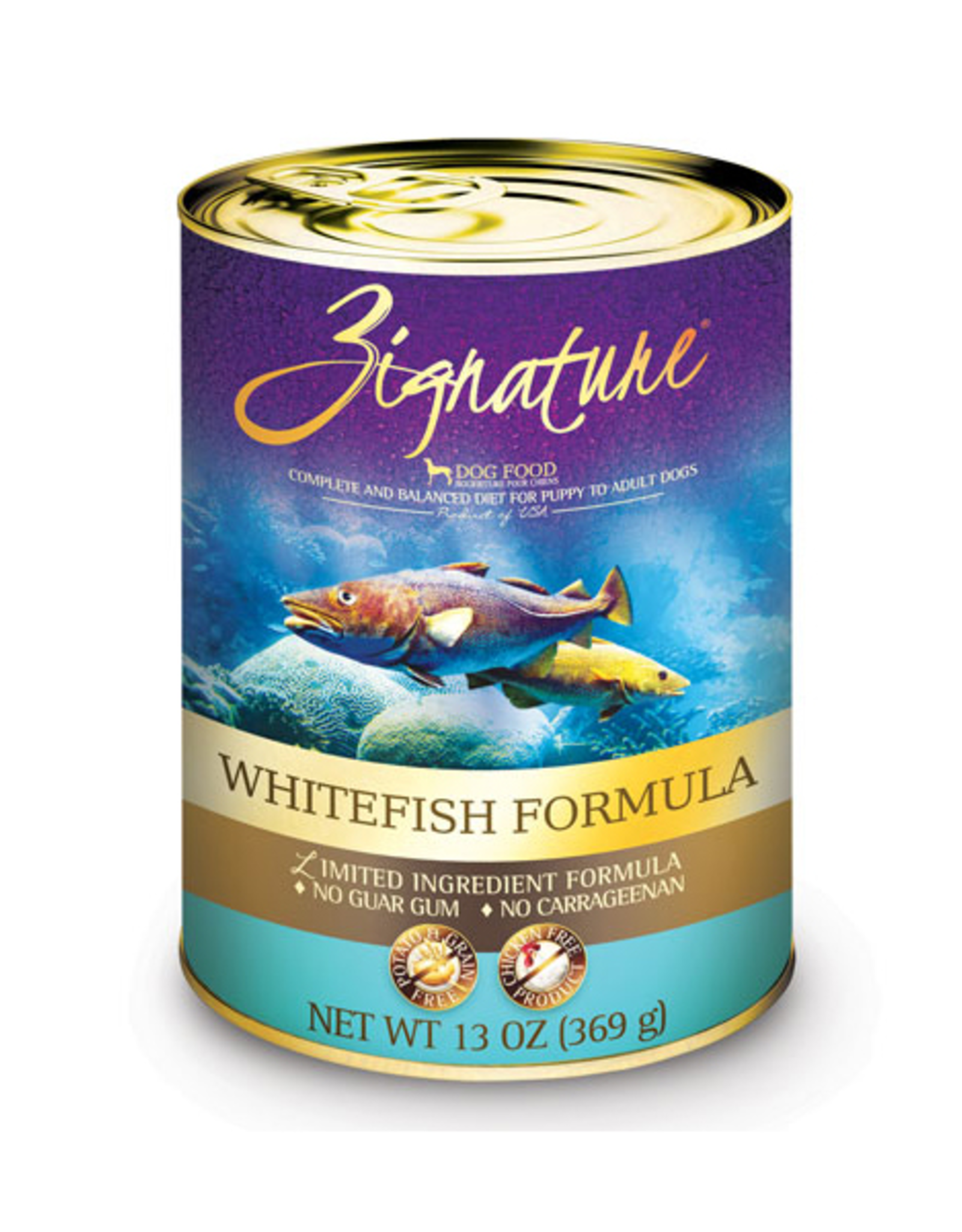 Zignature Zignature Dog LID GF Whitefish 13 oz
