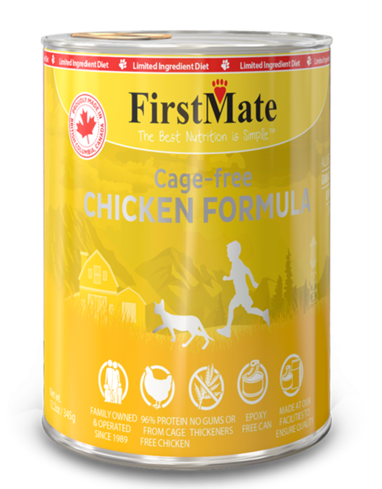 First Mate FirstMate Cat LID GF Chicken 12.2 oz