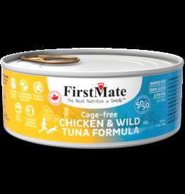 First Mate FirstMate Cat GF 50/50 Cage Free Chicken/Wild Tuna 5.5 oz