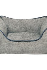 DOG GONE SMART Chenille Lounger Grey With Blue Trim 29x25