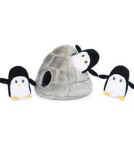 Zippy Paw ZippyPaws Burrow Squeaker Toy Penguin Cave