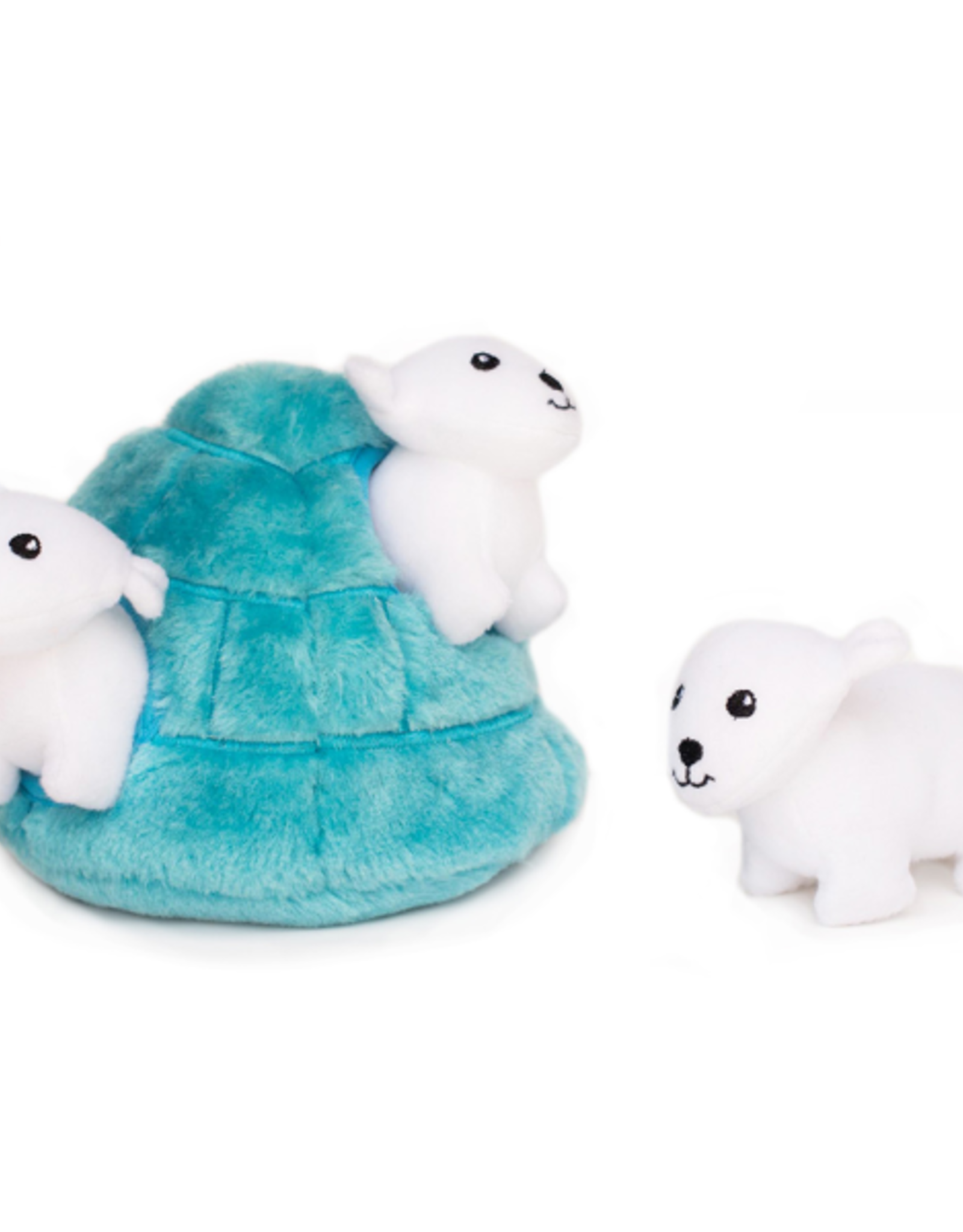 Zippy Paw ZippyPaws Burrow Squeaker Toy Polar Bear Cave