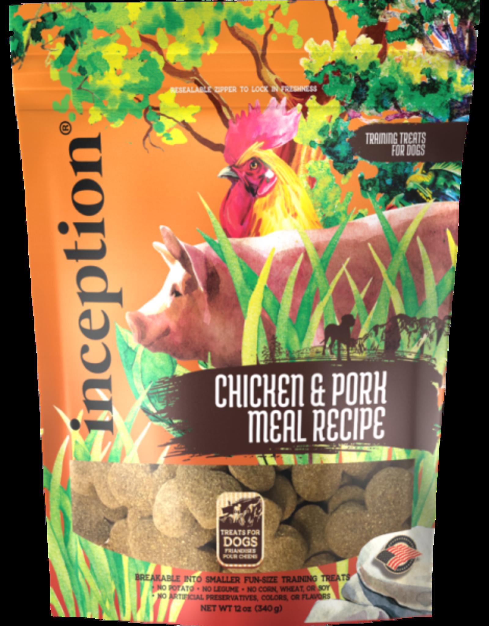 Inception Inception Dog Chicken & Pork Treats 12oz