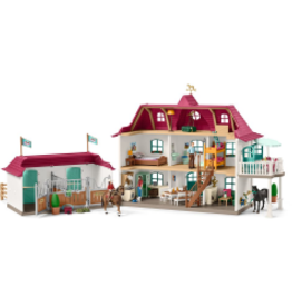 SCHLEICH SCHLEICH HORSE CLUB - LARGE HORSE STABLE WITH HOUSE & STABLE