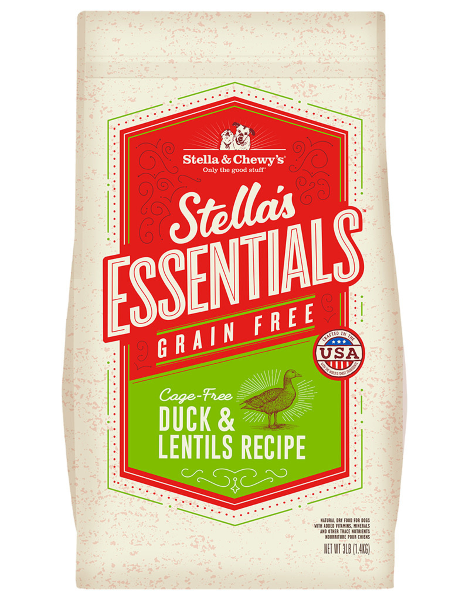 Stella & chewy's SC Essentials Grain Free Duck & Lentils 25LB