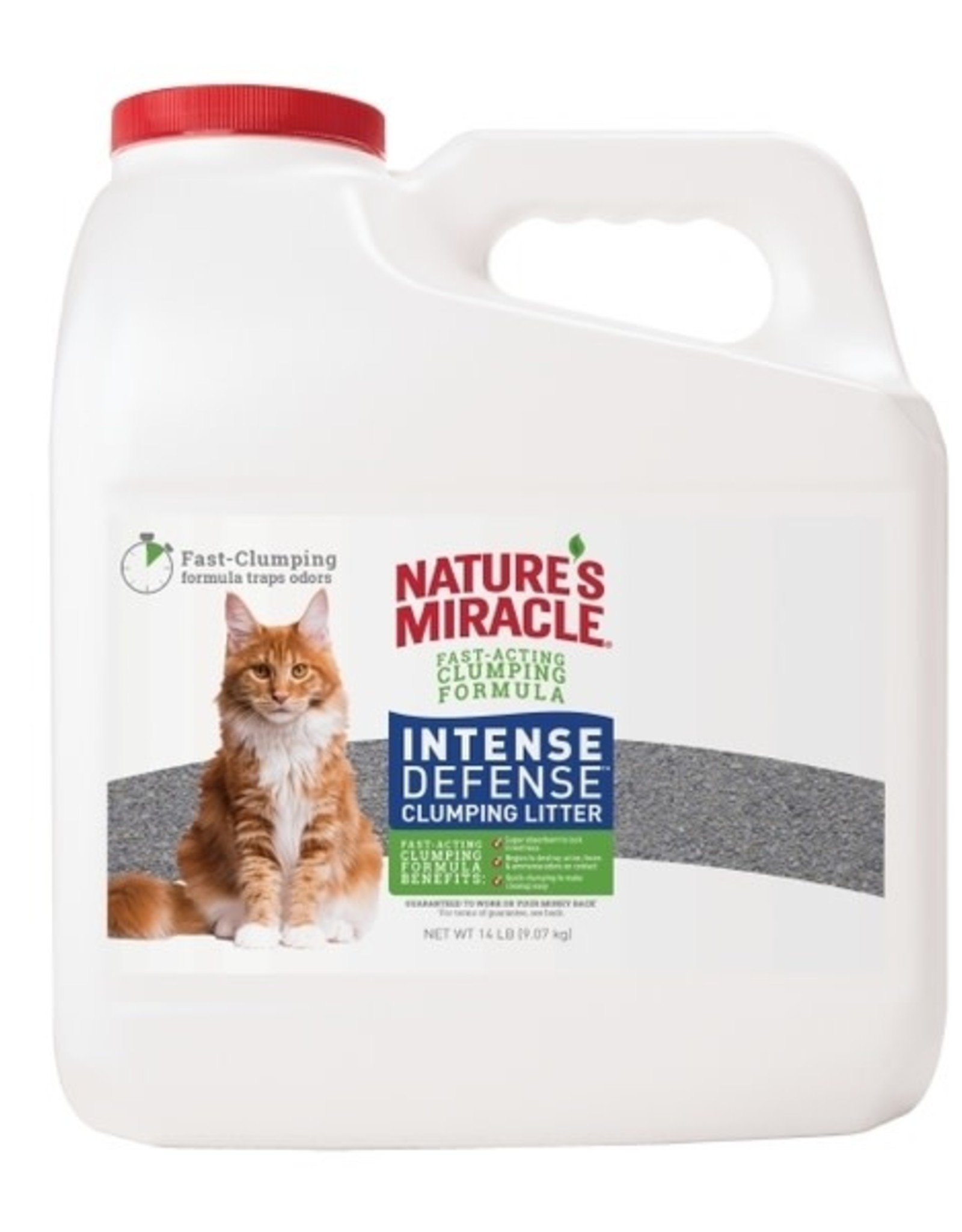 Natures Miracle NM JFC Intense Defense Litter Jug 14 lb