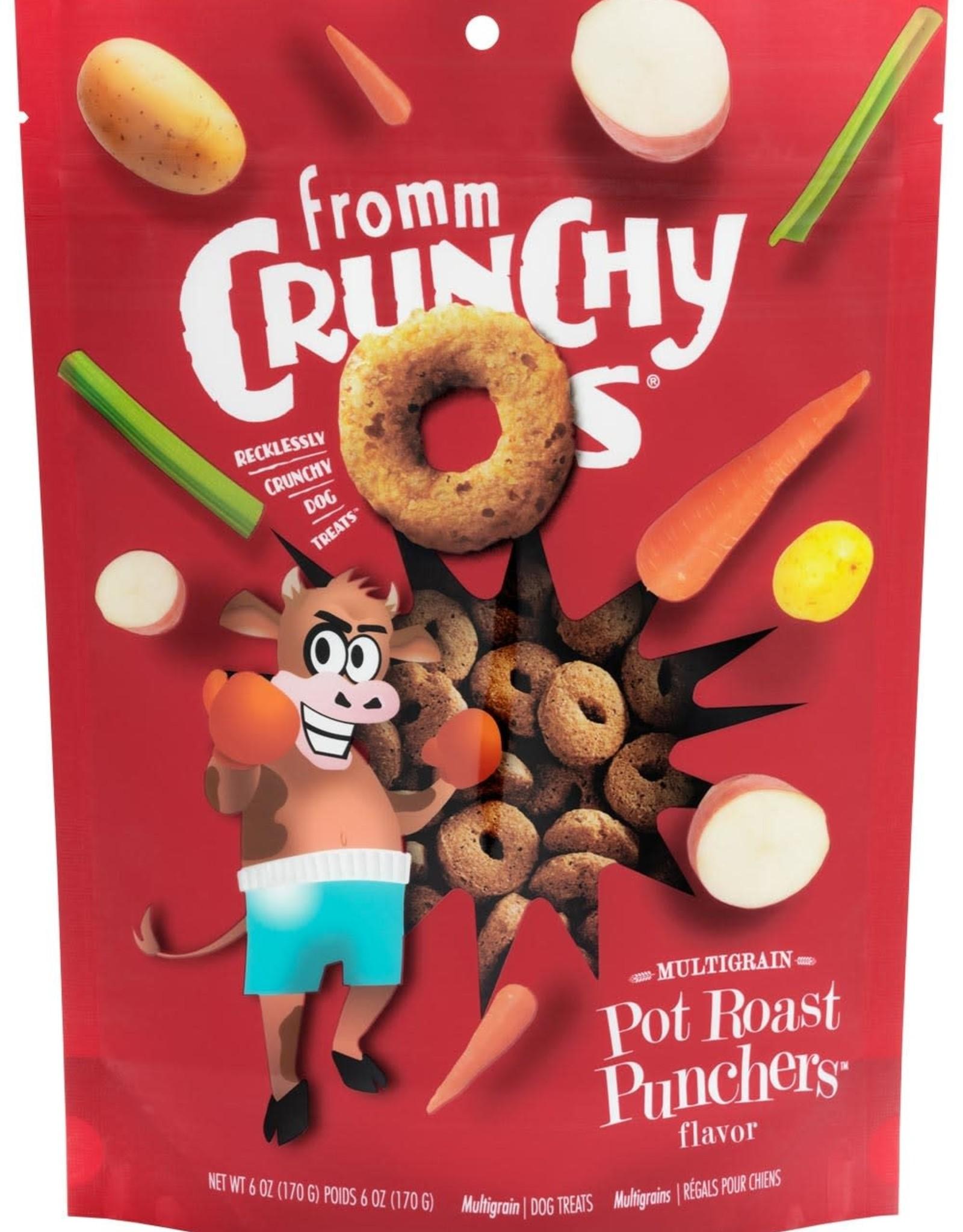 Fromm Dog Crunchy Os Pot Roast Punchers Treats 6 oz