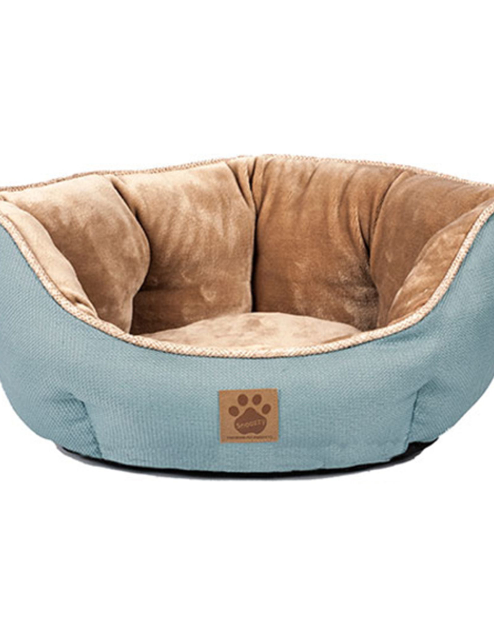Snoozzy Snz Rustic Elegance Clamshell Bed Teal 19x17x9