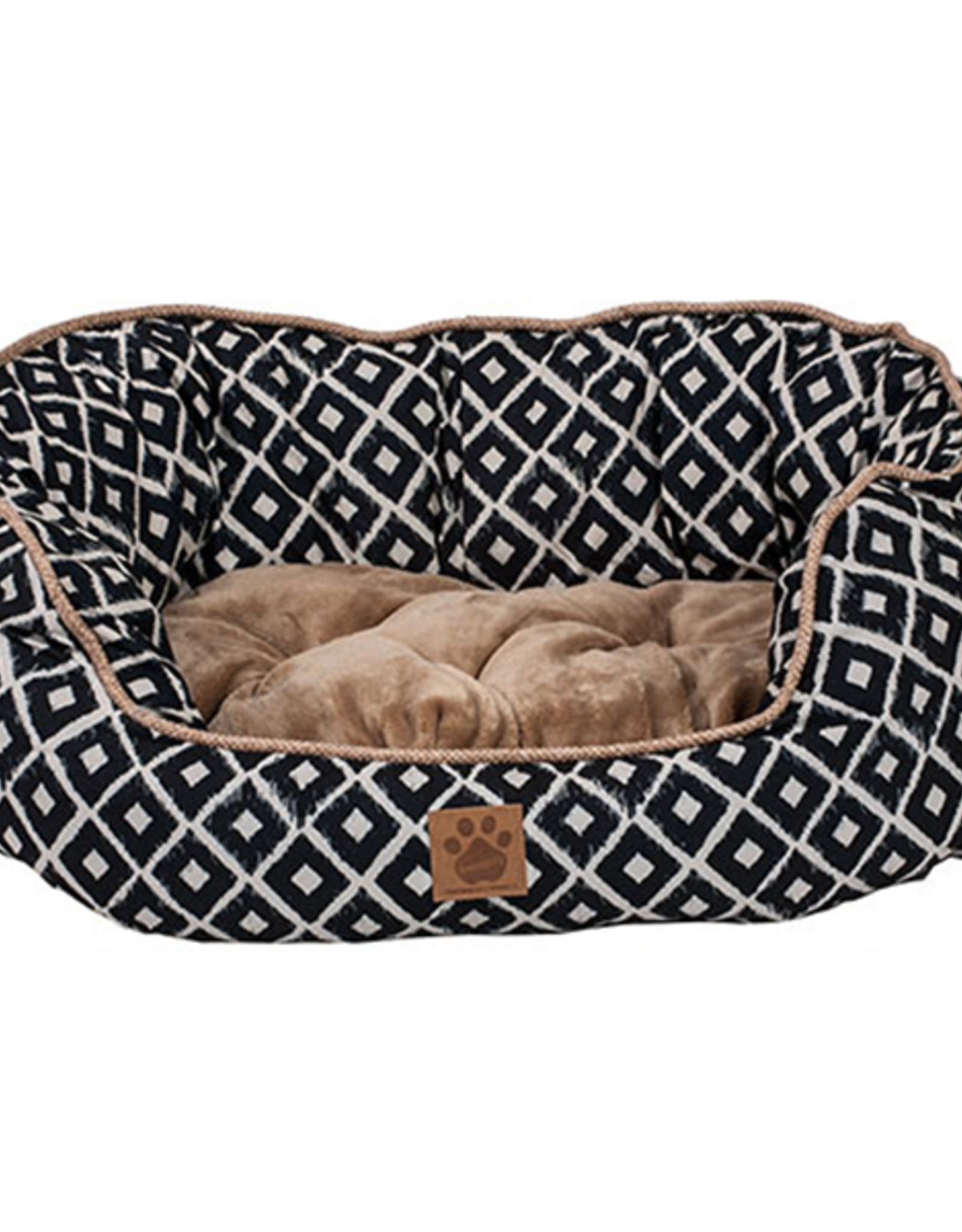 """Snoozzy Snz Ikat Daydreamer Bed Navy 32x25x9.5"""""""