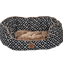Snoozzy Snz Ikat Daydreamer Bed Navy 32x25x9.5""