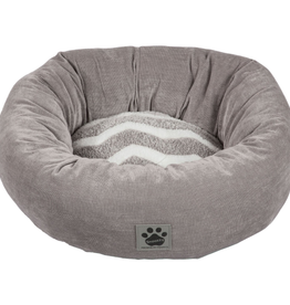Snoozzy Snz Zigzag Donut Bed Gry/Wh Zigzag Gry Cord 17 in
