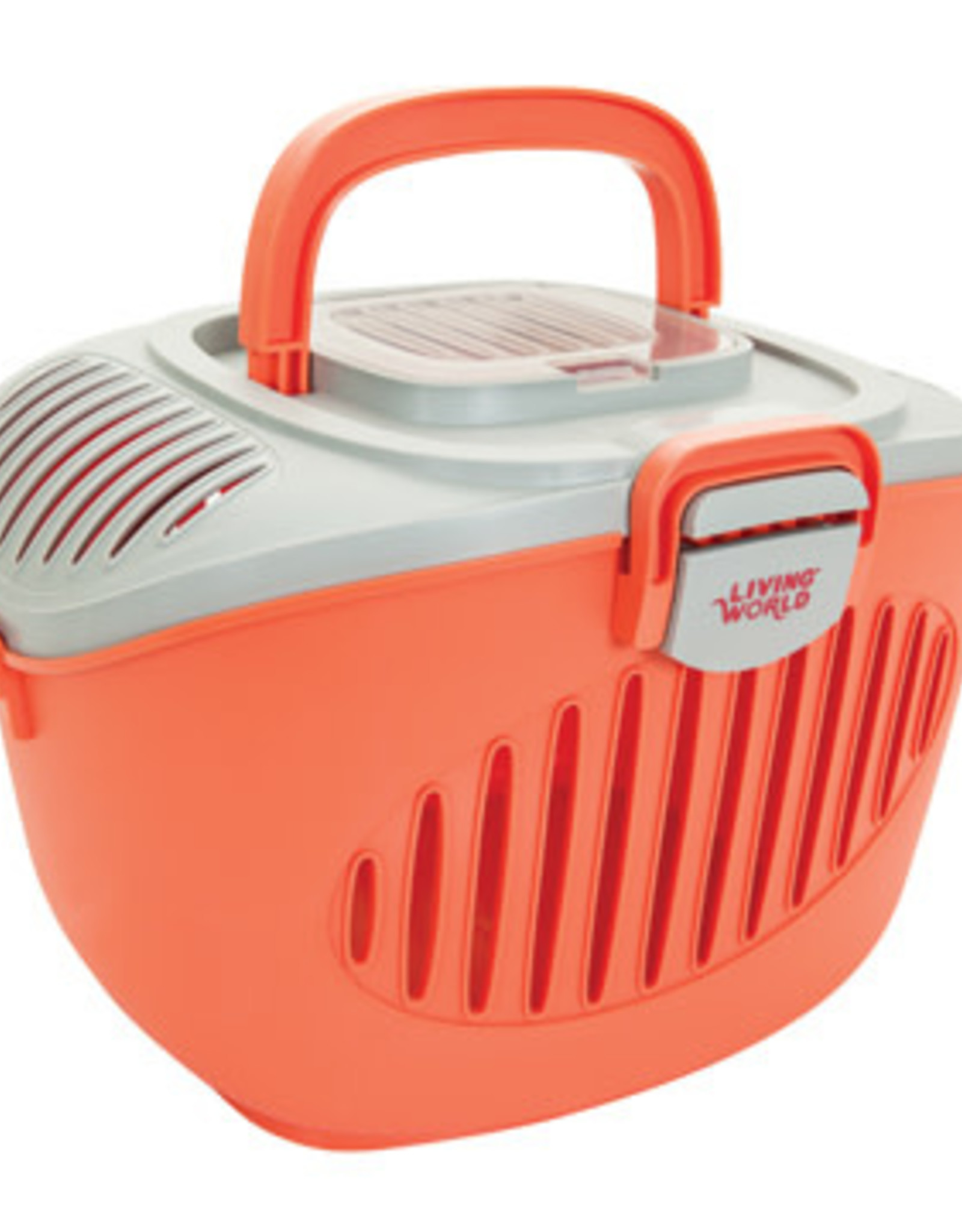 LIVING WORLD Living World Paws2Go Small Animal Carrier, Grey/Red