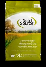 NUTRISOURCE NutriSourCAT Senior Weight Mgmt Ckn & Rice 6.6 lb