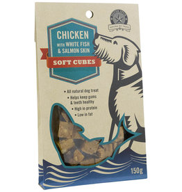 Silver Spur Chicken with White Fish & Salmon Skin SOFT CUBES