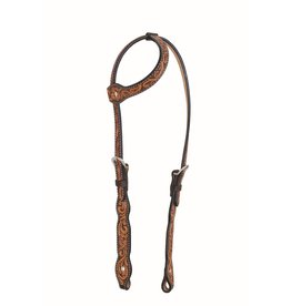 Western Rawhide By Jim Taylor Western Rawhide One Ear Headstall Scalloped Floral