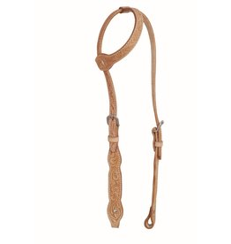 Western Rawhide By Jim Taylor Western Rawhide Scallop One Ear Headstall Floral Golden