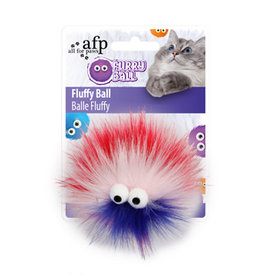 AFP Fluffy Furry Ball Red