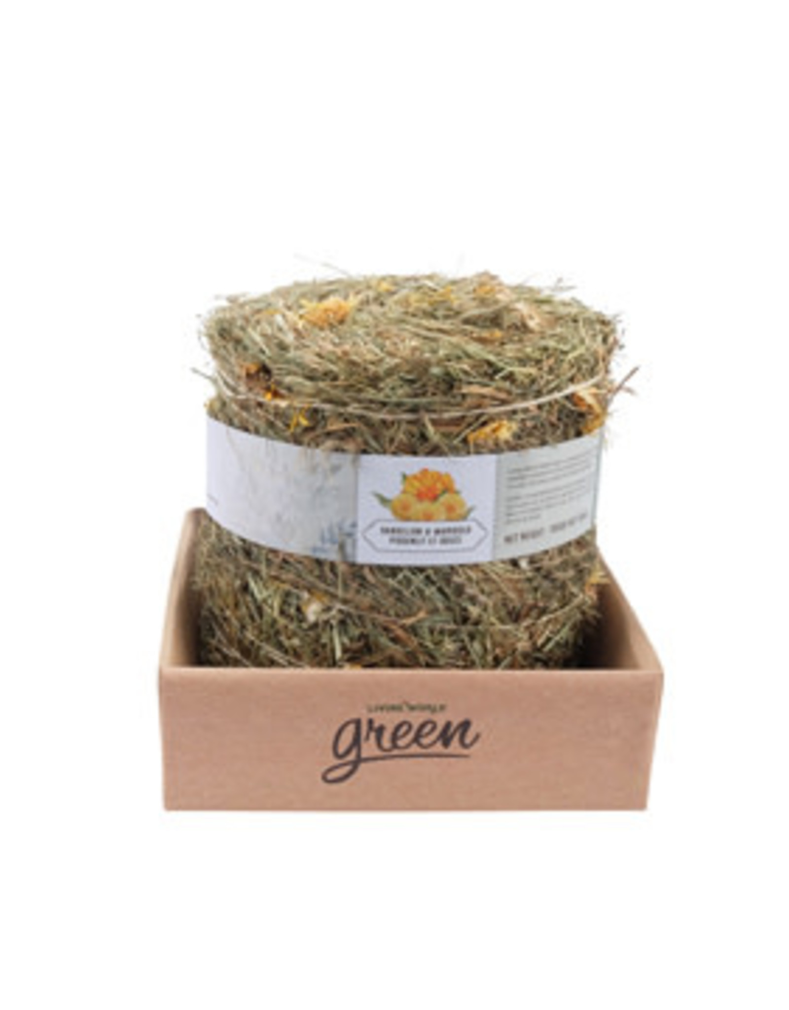 LIVING WORLD Living World Green Botanicals Meadow Hay Bale - Dandelion & Marigold - 500 g