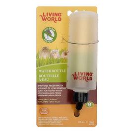 LIVING WORLD 8 oz plastic water bottle