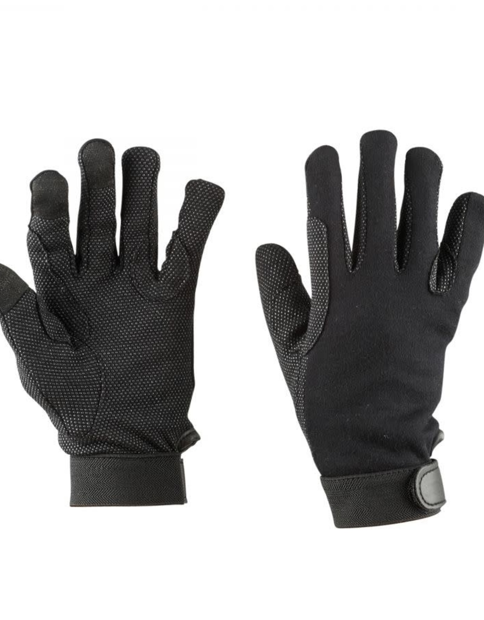 Dublin DUBLIN THINSULATE WINTER TRACK RIDING GLOVES BLACK ADULTS LARGE