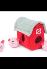Zippy Paw ZippyPaws Burrow Squeaker Toy Pig Barn