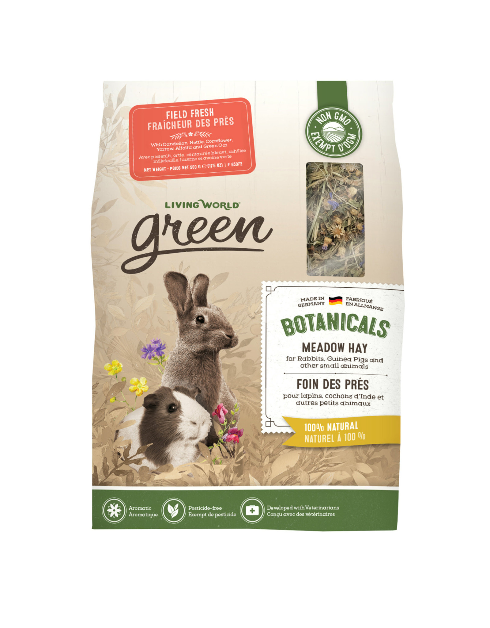 LIVING WORLD Living World Green Botanicals Meadow Hay - Field Fresh - 500 g