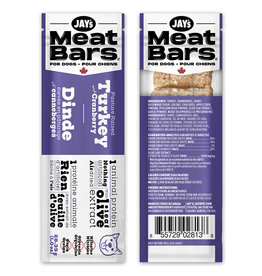 Jay's Meat Bars Turkey & Cranberry 28.35gm (1oz)