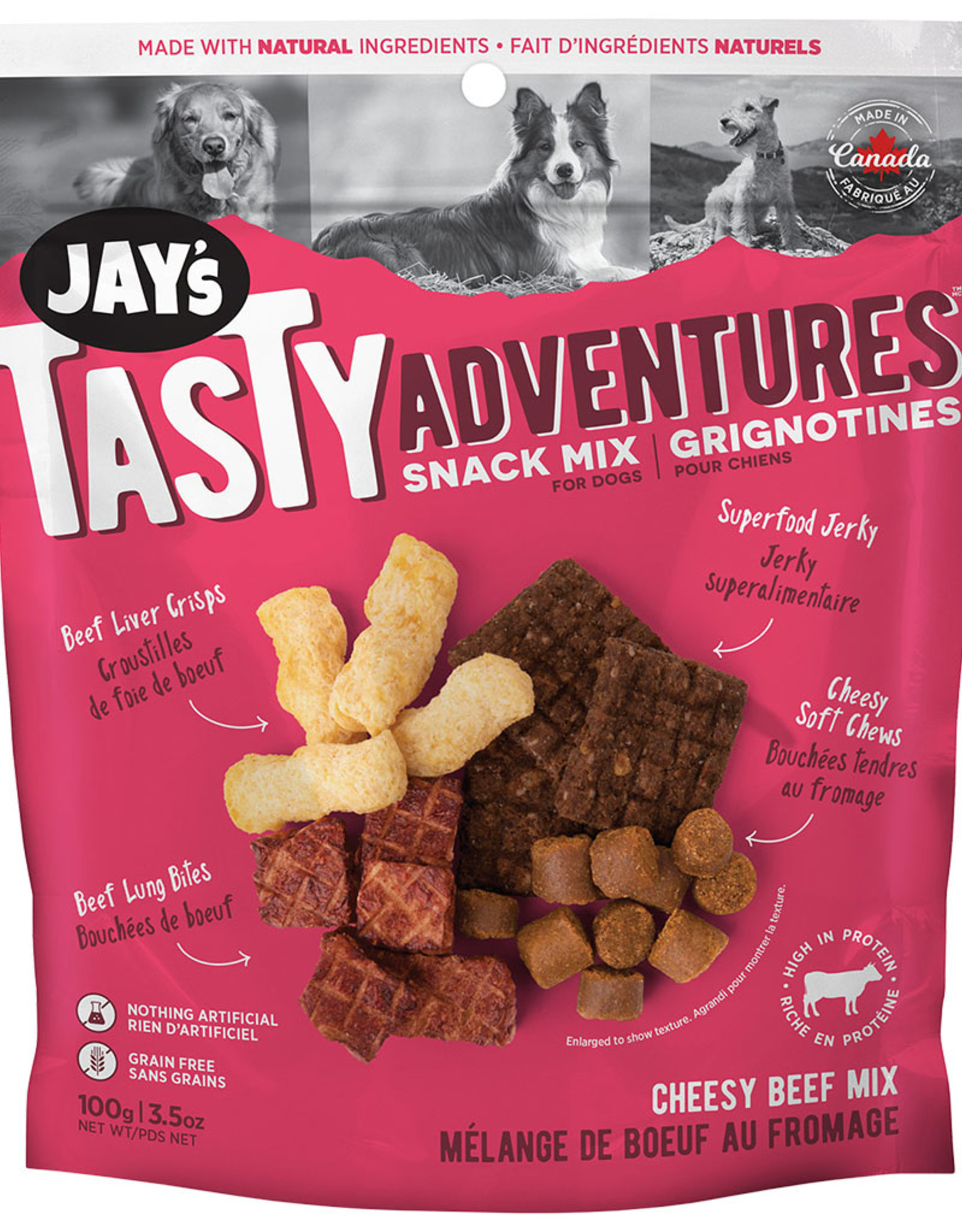 Jay's Cheesy Beef Snack Mix 100GM