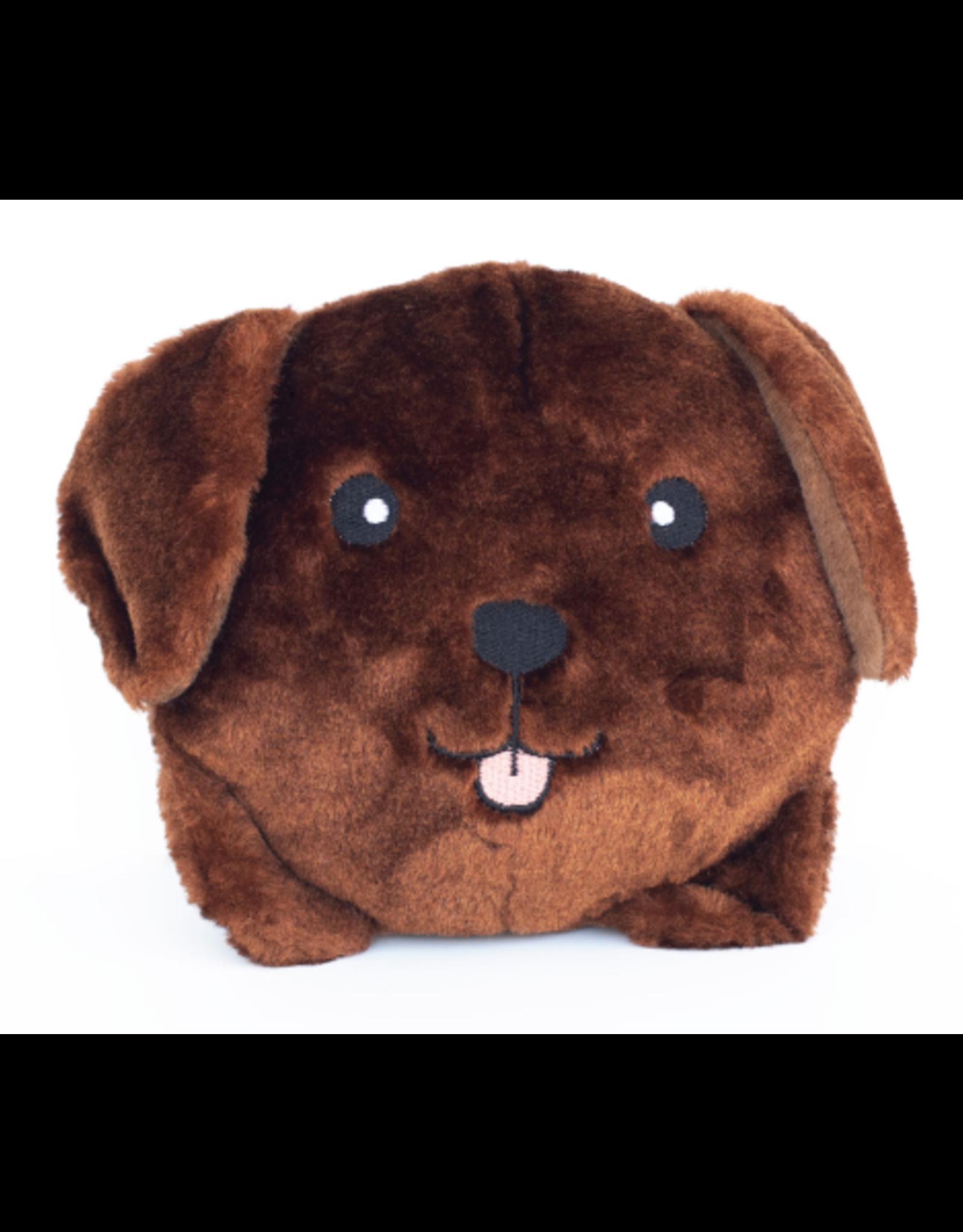 Zippy Paw ZippyPaws Squeakie Buns Toy Chocolate Labrador