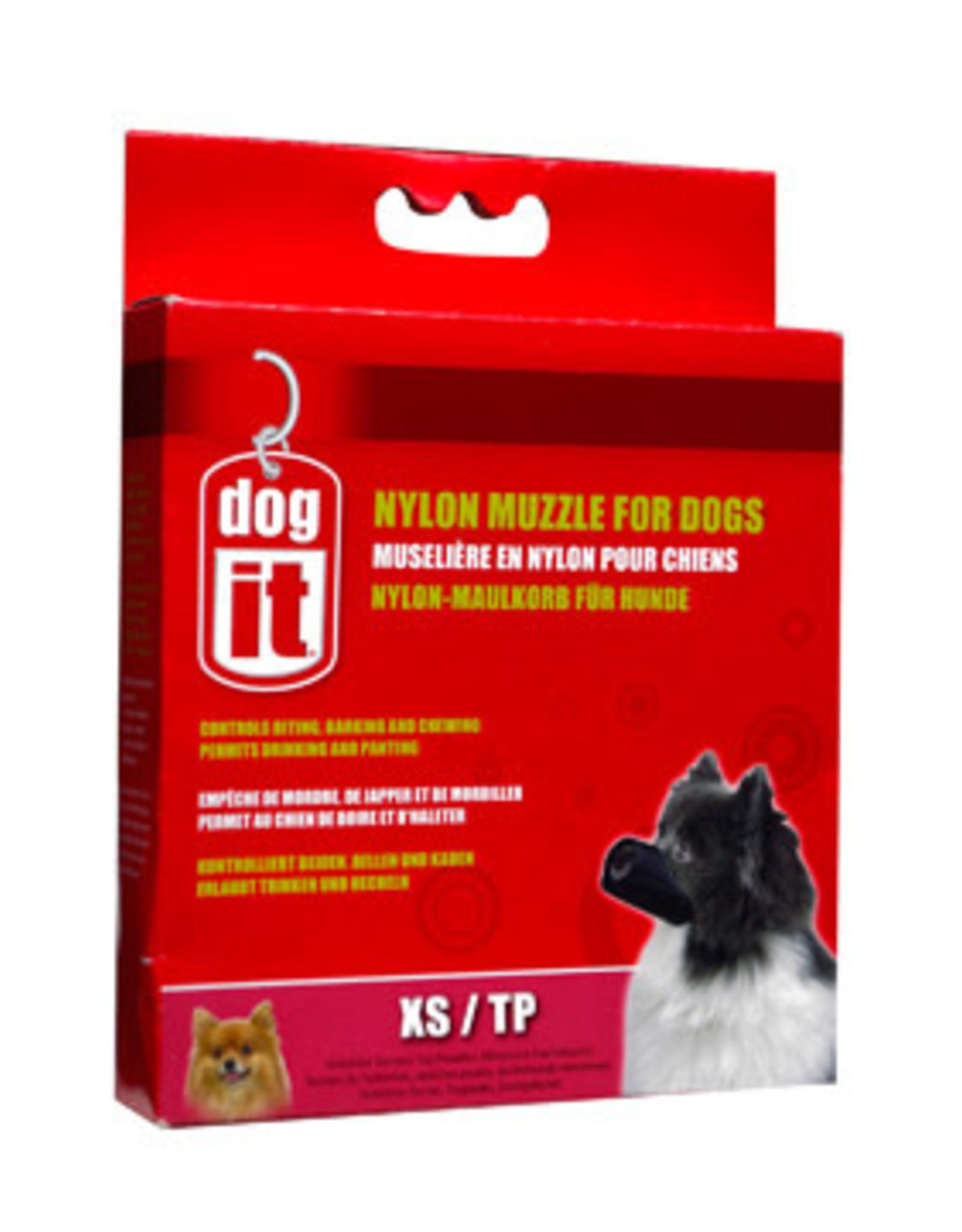 DogIt Dogit Nylon Dog Muzzle - Black - X Small (10 cm / 3.9in)