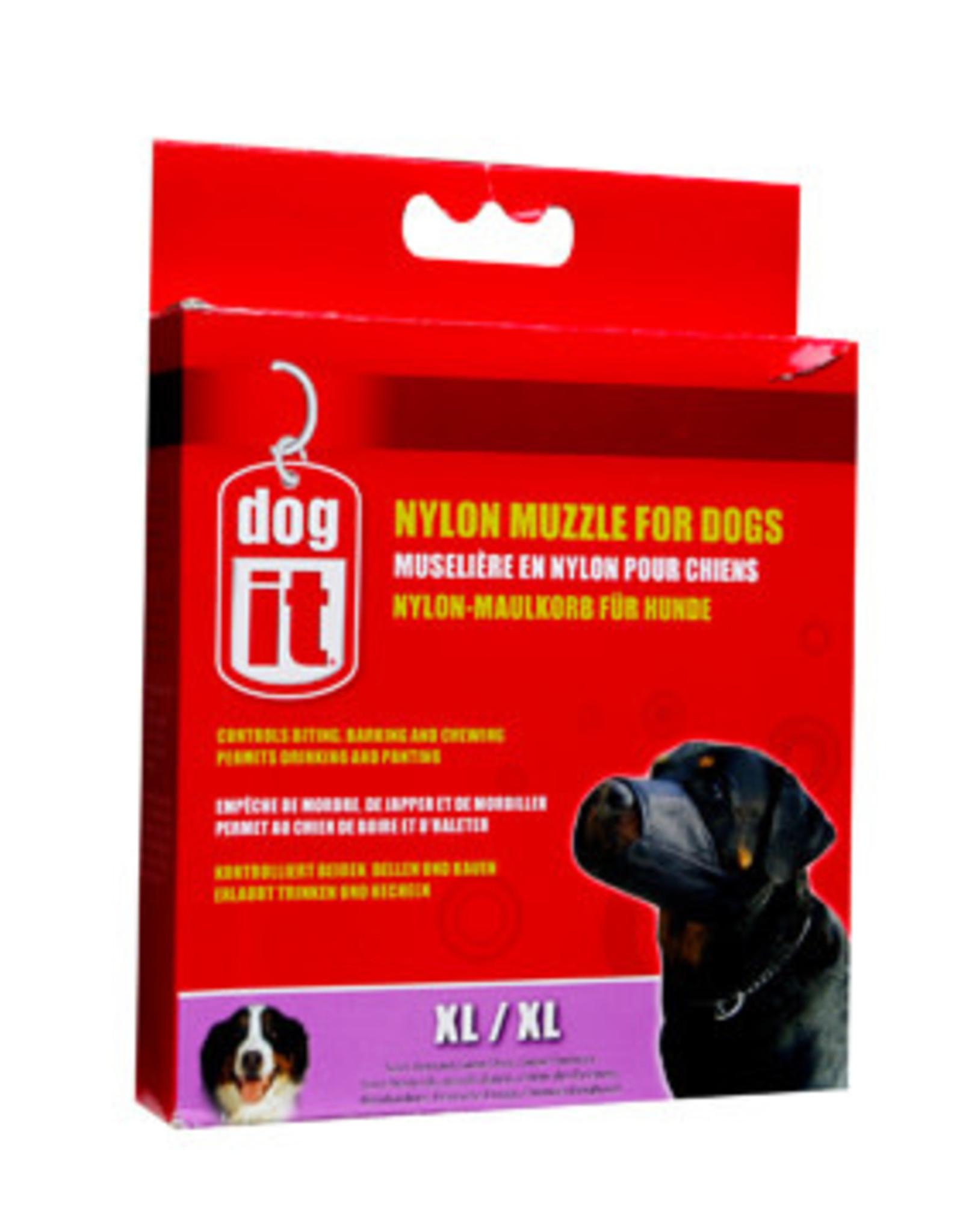 DogIt Dogit Nylon Dog Muzzle - Black - X Large (21.5 cm / 8.5in)