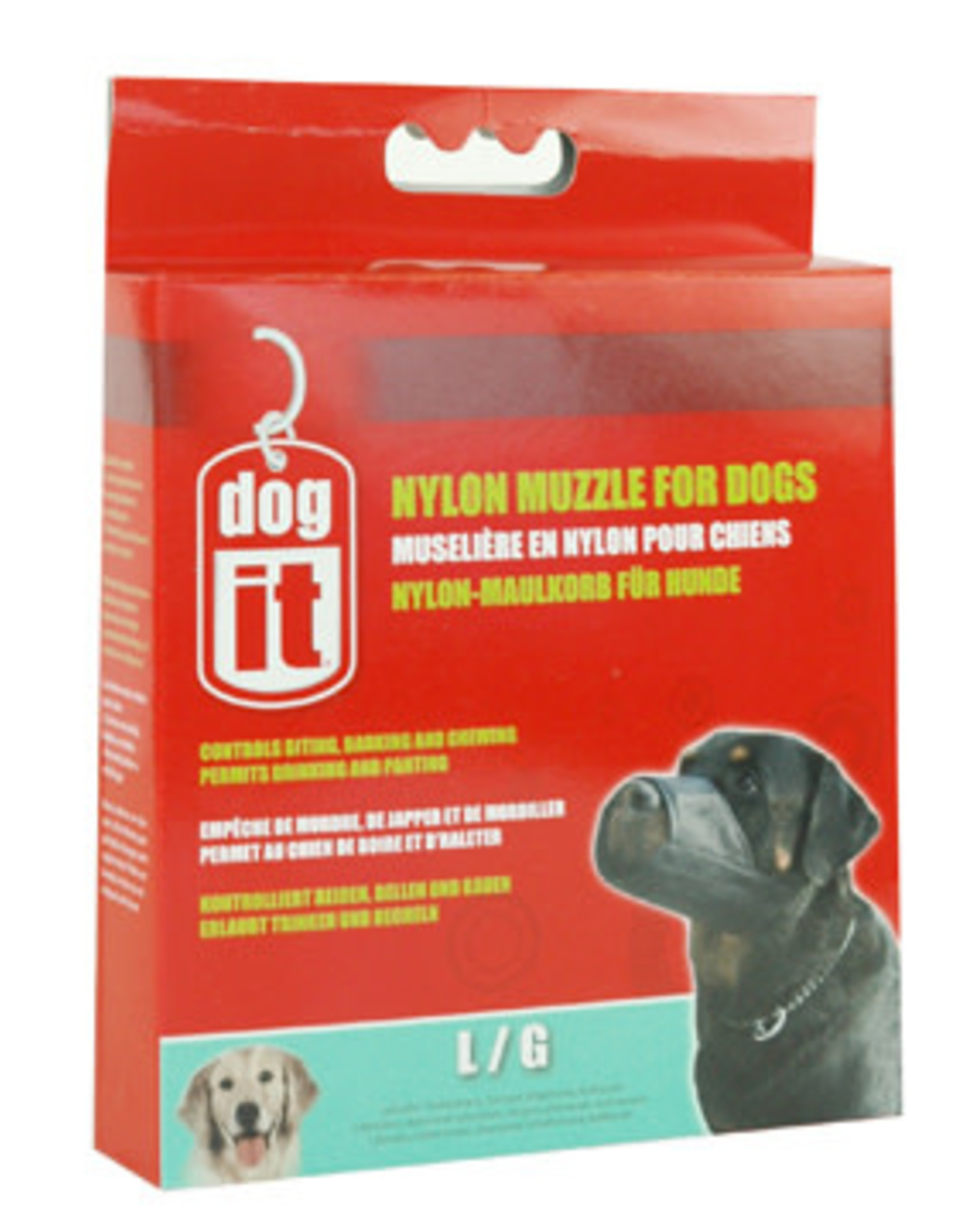 DogIt Dogit Nylon Dog Muzzle, Black, Large 7.3