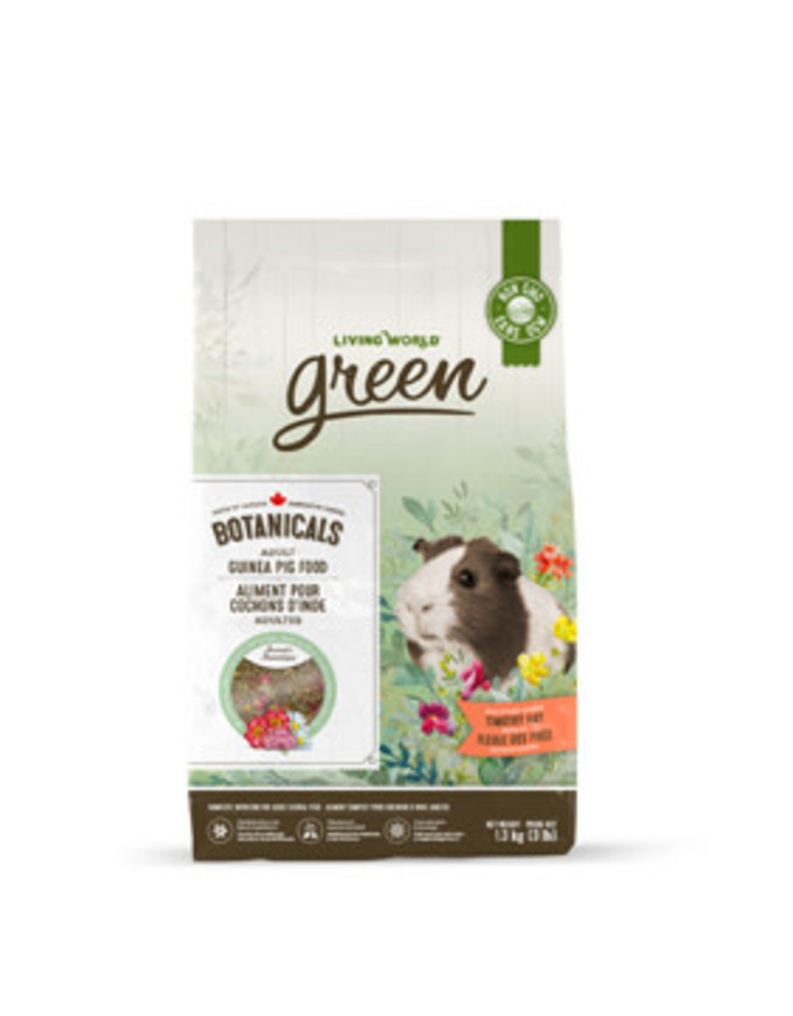 LIVING WORLD Living World Green Botanicals Adult Guinea Pig Food - 1.36 kg (3 lbs)