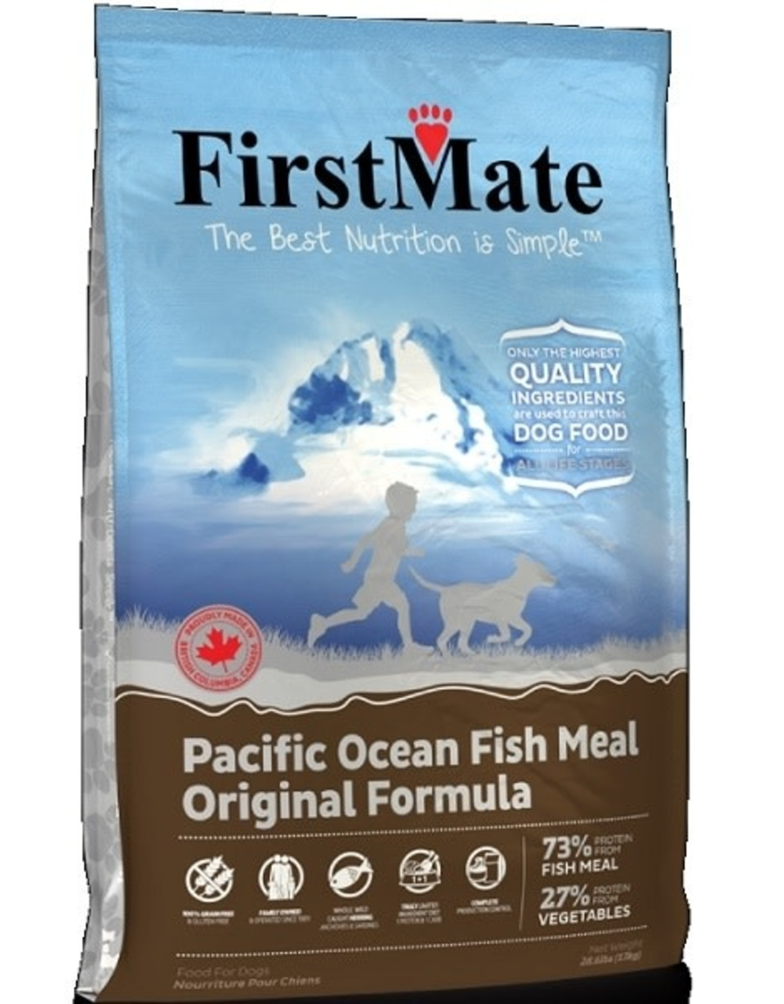 First Mate FM GF Pacific Ocean Fish Original Adult DOG 13kg/28lb