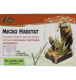 Zilla ZILLA Micro Habitat Arboreal Largel 8x6x14in