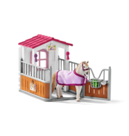 SCHLEICH HORSE CLUB - HORSE STALL WITH LUSITANO HORSES