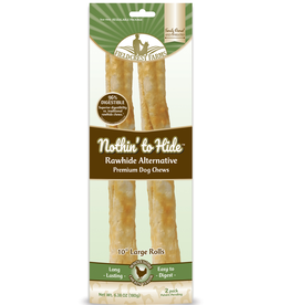 """NOTHIN TO HIDE NOTHING TO HIDE Roll Chicken Large 10"""" 2PK"""