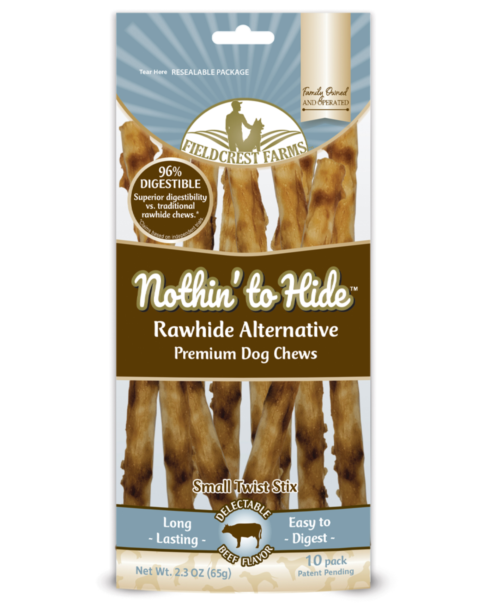 NOTHIN TO HIDE NOTHING TO HIDE Twist Stix Beef Small 10PK