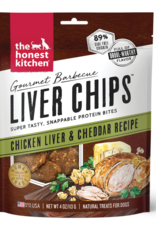 Honest Kitchen HK Dog Gourmet BBQ Liver Chips Chicken Liver & Cheddar 4 oz