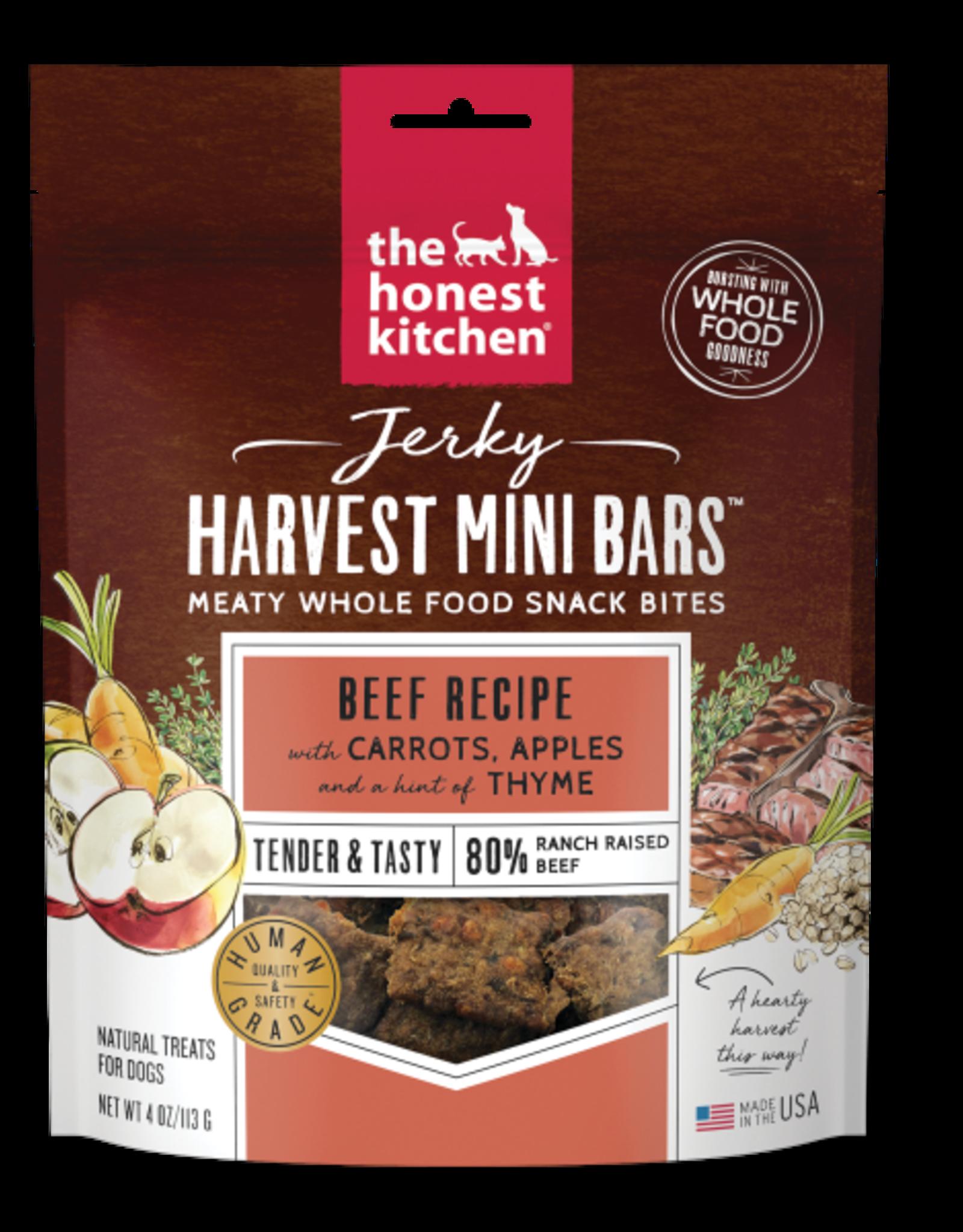 Honest Kitchen HK Dog Jerky Harvest Mini Bars Beef w/ Carrots & Apples 4 oz