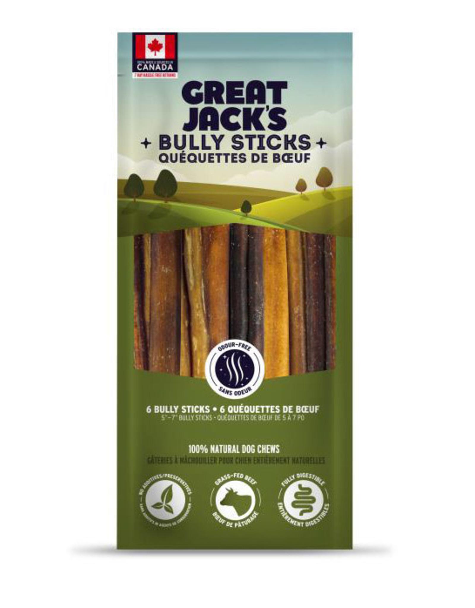 Great Jack's Great Jacks Bully Stick 5-7in 6pk