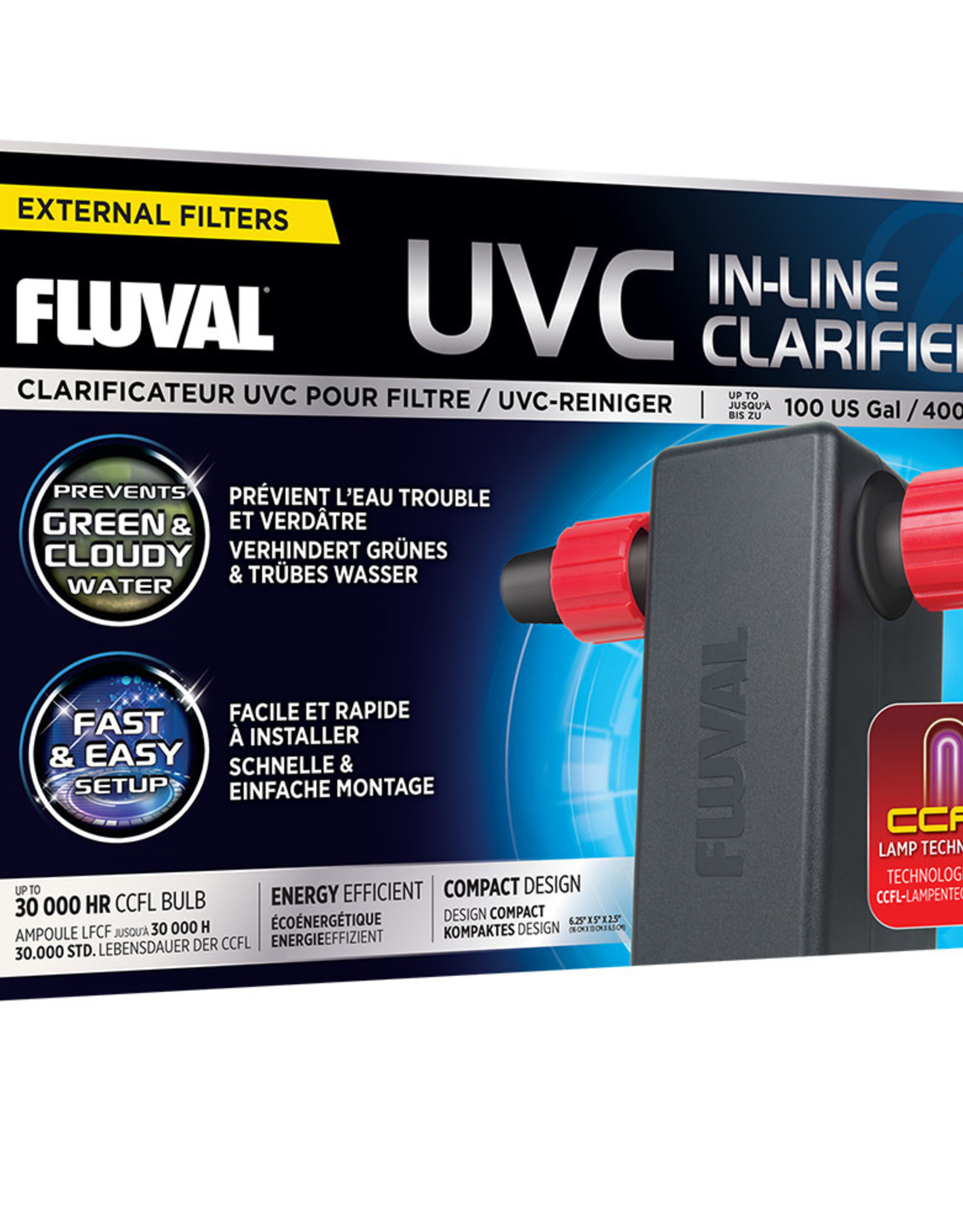 Fluval Sea Fluval UVC In-Line Clarifier - up to 100 US Gal (400 L)