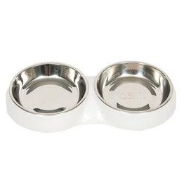 CATIT Catit Feeding Double Dish - White - 2 x 200 ml (6.83 fl oz)