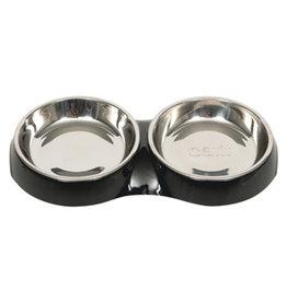 CATIT Catit Feeding Double Dish - Black - 2 x 200 ml (6.83 fl oz)